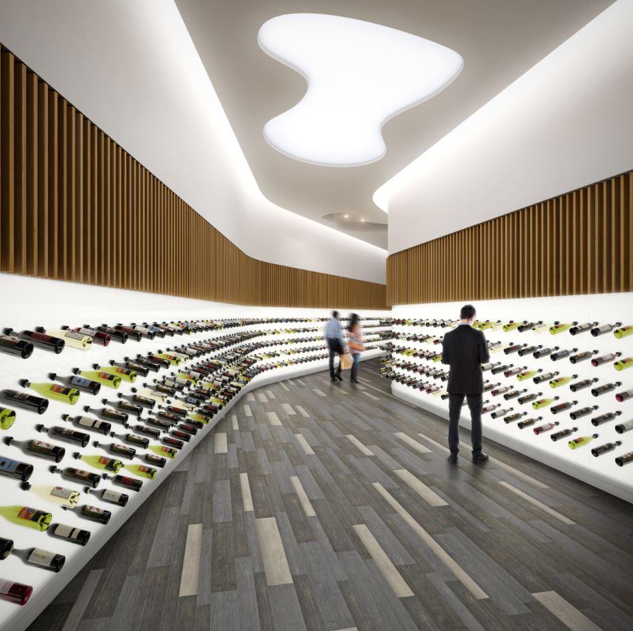Vinyl flooring for retail spaces