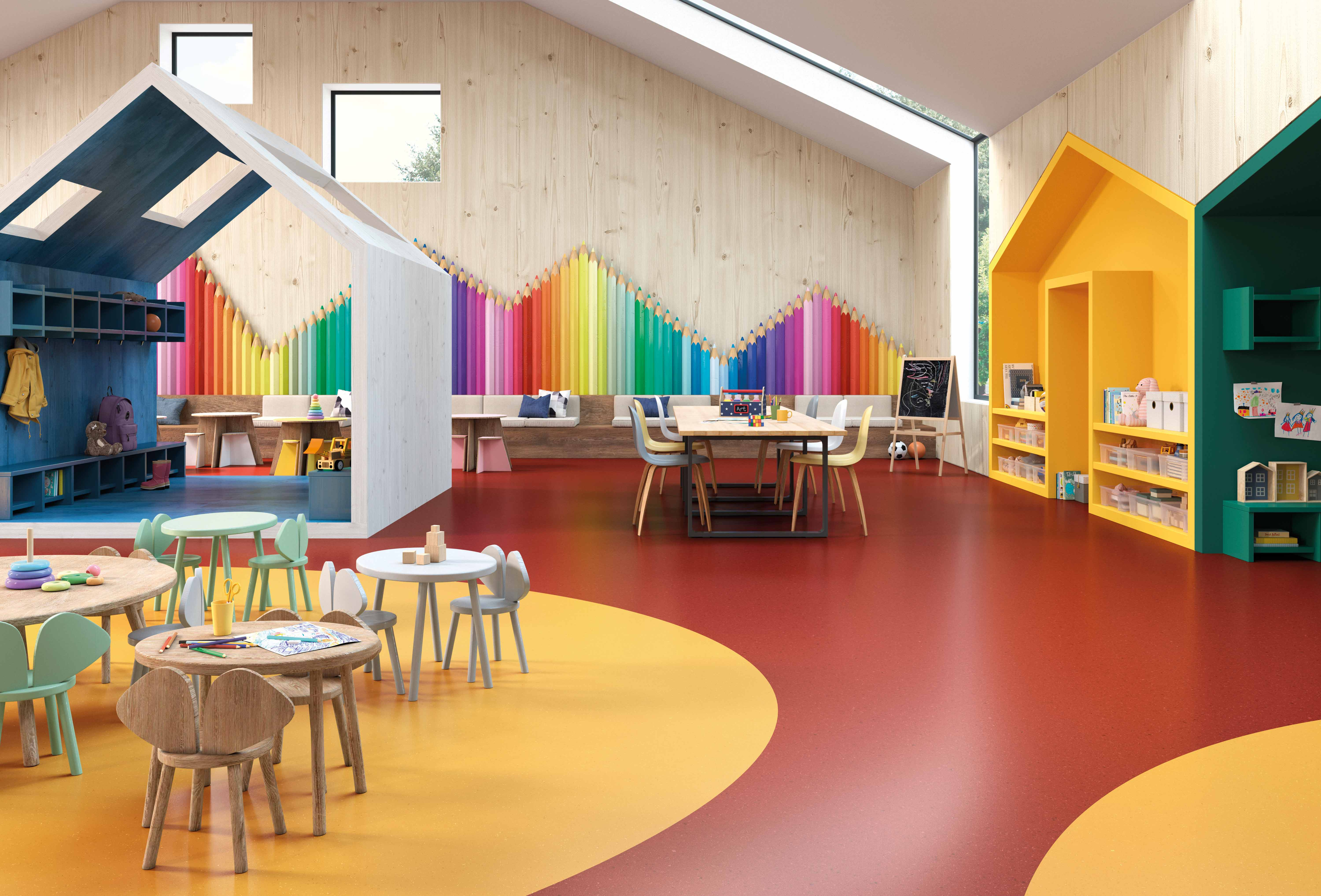 How do you create a safe and creative environment in daycare?